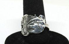 elephant ring dumbo ring spoon ring animal by TheDishandSpoon