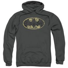 Batman - Tattered Logo Adult Pull-Over Hoodie