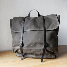 The Rucksack // Backpack in Stone Waxed Canvas and by infusion