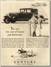 1928 the low cost of luxury and distinction ~ Century Hupmobile car-ad