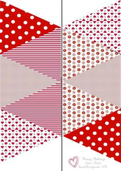 Red and White Christmas Garland Free Printable Banner, Printable Paper, Free Printables, White Christmas Garland, Christmas Crafts, White Garland, Diy And Crafts, Paper Crafts, Bunting