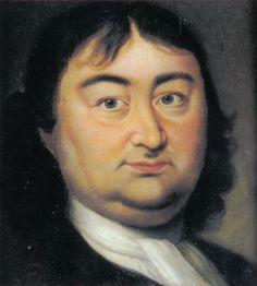 """* Retrato de Vitus Jonassen Bering *  (* Horsens, Jutlândia, Dinamarca, 1680 - Ilha Avatscha, 19/Dezembro/1741). Explorador dinamarquês. Conhecido como """"o Colombo dos Czares"""". O """"Estreito de Bering"""", o """"Mar de Bering"""", a """"Ilha de Bering"""" e a """"Ponte Terrestre de Bering"""" são assim denominadas em sua homenagem."""