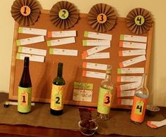 Wine tasting party-  Nice simple layout. Pleasing to the eye but won't break the bank or your time.