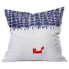 Loving this fox in the snow pillow!