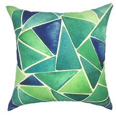 YOUR SMILE Green Cotton Linen Pillow Case Trendy Tropical Tree Decor Throw Cushion Cover for Sofa Home Decorative Square Pillow Cover with Zippers Standard Size 18 x 18 Inch style 3 ** Be sure to check out this awesome product. Note: It's an affiliate link to Amazon
