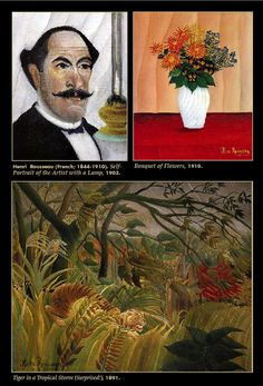 "Happy birthday to Henri Rousseau, born May 21, 1844. ""Rousseau's work found enthusiastic acceptance outside the establishment: he was championed by a younger generation of avant-garde artists and writers, including Alfred Jarry, Guillaume Apollinaire, Robert Delaunay, and Pablo Picasso, who admired the liberties he took, seeing in them new possibilities for the future""  (www.nga.gov)"