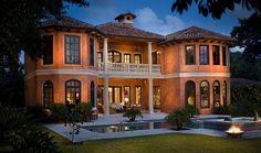 """Casa La Coppola"" in Palm Beach Florida Villas, Vacation Villas, Beach Vacations, Home Luxury, Luxury Villa Rentals, My Dream Home, Dream Homes, Big Homes, Palm Beach"