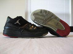 Boys Toddler Nike Air Jordan Flight 23 Black/ Red Leather Size 11c