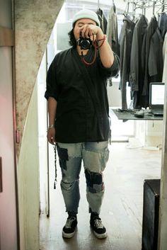 Beanie - Décathlon Kimono - sansmarque T-shirt - Uniqlo Pant - Rework homemade handmade Sneaker - Converse x Number (N)ine