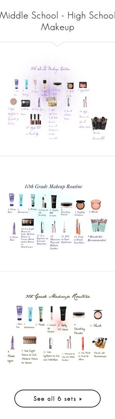 """Middle School - High School Makeup"" by sweet-cakes101 on Polyvore featuring beauty, Clean & Clear, COOLA Suncare, Too Faced Cosmetics, MAC Cosmetics, Lancôme, NARS Cosmetics, Charlotte Russe, Urban Decay and Kat Von D"