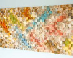 Wood Wall Art geometric wood art and music by ArtGlamourSligo