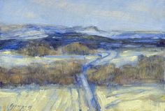 Montana winter landscape is subject of this by PoppengaArtStudio, $250.00
