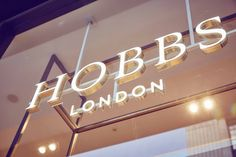 Hobbs flagship store by NOW, London – UK Entrance Signage, Exterior Signage, Wayfinding Signage, Signage Design, Industrial Signage, Visual Merchandising, Retail Signs, Sign Board Design, Sign System