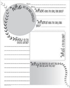 Free One Page Fact Sheet for Any Story or Novel Reading Skills, Teaching Reading, School Resources, Teacher Resources, Ninth Grade, Fourth Grade, Third Grade, Fun Classroom Activities, Classroom Ideas