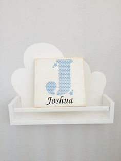 Weiteres - Namensbild, Taufgeschenk- Wolken & Sterne  - ein Designerstück von Paletino bei DaWanda