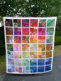 reversible quilt as you go, magnifique couleurs !!!!!!!