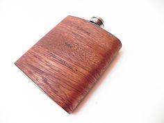 6oz Wood Flask : Real Mahogany Wood,  groomsman, groom, corporate, customize, CEO, gift shop, wedding, gifts for men, groomsmen gift, by ResoluteStar on Etsy