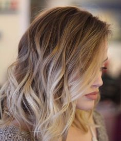 champagner balayage Haarfarbe
