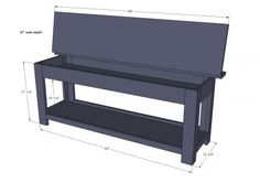 Flip Top Storage Bench New Plans from Ana White