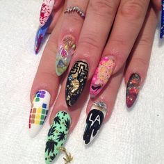 @blackmilkclothing inspired nails #nailart #handpainted...