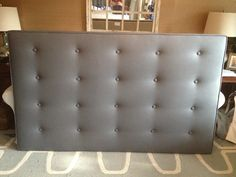 King TUFTED Rectangle Upholstered Headboard by ThreeStrandsDesigns, $475.00