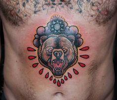 +++STA.DEMONIA TATTOO BARCELONA SOLE+++ Furious Bear by @solcreatattoo_ Good way to start the year, gracias @simon_friel !! Www.stademonia.com #StaDemonia #Tattoo #Barcelona #Sole #OldSchool #Tradicional #Bear #Oso