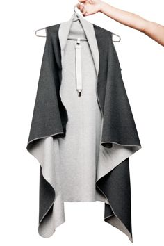 KUKLA shades-of-grey with one light grey clip included Grey Light, Dark Grey, Shades Of Grey, Traje Jedi, Types Of Women, Mode Style, Cosy, Kimono Top, Outfits