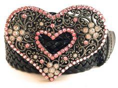 Heart Belt Buckle Pink