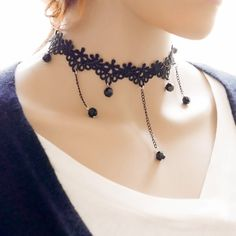 Girly Girl Boutique Choker on Girly Girl の To Alice.Girly Gothic Laced Drop Choker Cosplays Velvet Necklace Gg212 Wearing it out will be a eye-catching focus in the street. .It perfect for most of occasions.Make sure you add these to your closet,it is a must have.