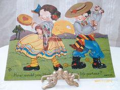 Carrington Spanish Theme Mechanical Valentine artist was Louis Katz. 7X6