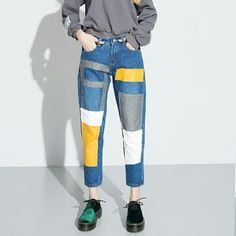 Painted Jeans, Painted Clothes, Diy Jeans, Denim Fashion, Fashion Outfits, Mode Hijab, Aesthetic Fashion, Jeans Style, Diy Clothes