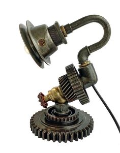 Steampunk Lamp diy Steampunk Lamp Table Lamp Edison Light