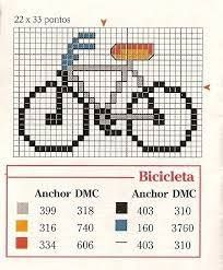 #Gráfico ponto cruz #Ponto cruz #Bike