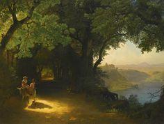 Lev Lagorio - View of Castle Gandolfo and Lake Albano