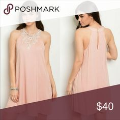 🌸🌸Blush Dress with detail lace 🌷🌷 Stunning blush dress with very pretty detail lace. Even more beautiful in person. Reasonable offers accepted. Bundle and save🌸🌸🌸 Sip N' Sparkle Dresses