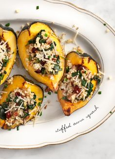 stuffed acorn squash / @Adrienne Raptis and Lemons