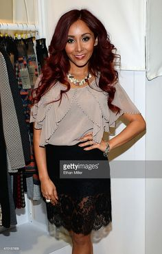 Television personality Nicole 'Snooki' Polizzi debuts her SnookiLove by Nicole Polizzi line at the Double Zero booth during MAGIC Market Week at the Las Vegas Convention Center on February 18, 2014 in Las Vegas, Nevada.