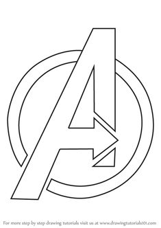 marvel drawings easy Learn How to Draw Avengers Logo (Brand Logos) Step by Step : Drawing Tutorials Marvel Logo, Marvel Art, How To Draw Avengers, Avengers Painting, Avengers Drawings, Avengers Tattoo, Avengers Symbols, Thanos Avengers, Avengers Coloring Pages