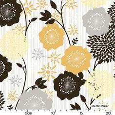 Andrea Victoria My Minds Eye Large Floral in Gold Andrea Victoria My Minds Eye Large Floral in Gold Riley Blake fabric for patchwork quilting and dressmaking from Eclectic Maker [C3550-GOLD] : Patchwork, quilting and dressmaking fabric, patterns, haberdashery and notions from Fabric for Patchwork, Quilting and Dressmaking from Eclectic Maker