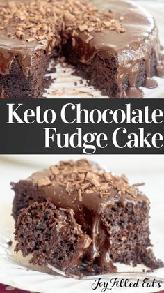 This is the ultimate Keto Chocolate Cake recipe. Every bite is fudgy, ultra-rich, and incredible. If you have been looking for a dessert that will impress pretty much anyone, you have finally found it. Delicious chocolate cake topped with a silky chocolate frosting is sure to please. It's low carb, sugar-free, grain-free, gluten-free, and trim healthy mama friendly too. Sugar Free Chocolate Cake, Sugar Free Sweets, Chocolate Fudge Cake, Delicious Chocolate, Chocolate Recipes, Chocolate Frosting, Low Carb Desserts, Healthy Dessert Recipes, Real Food Recipes