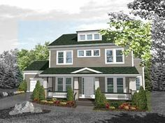 Floor Plans AFLFPW02863 - 2 Story Craftsman Home with 3 Bedrooms, 3 Bathrooms and 2,701 total Square Feet