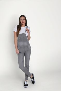 WASH Clothing Company - Faded Grey Skinny Fit Dungarees for Women. Regular and loose fit dungarees also available. Ladies Dungarees, Playsuits, Jumpsuits, Denim Overalls, Clothing Company, Skinny Fit, Casual Wear, Short Dresses, Overalls