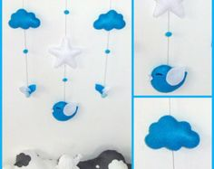Baby mobile or wall decoration . Cloud mobile for baby's