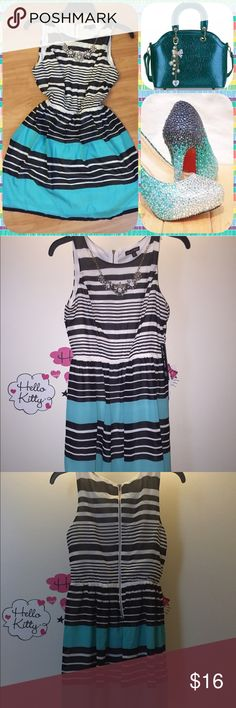 striped dress with necklace ❌✅❌This listing of for the dress ONLY   This is a brand new As U Wish Juniors' Dress   Size 3  Comes with the necklace. Zip back  Perfect for any day. Whether it's a business meeting or a date or just a fun day at the mall, this dress makes your fashion up to date. Look sexy and fabulous while staying comfortable.    ❌❌❌ no LOWBALLING   ✅✅✅ BUY MORE, SAVE MORE! Bundle 3 or more items and save on shipping PLUS get 10% off your purchase. As U Wish Dresses Mini