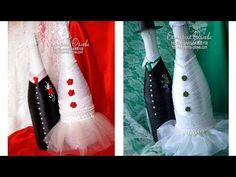 Свадебный декор, украшения на свадьбу#как сделать свадебное шампанское своими руками. Мастер класс! - YouTube