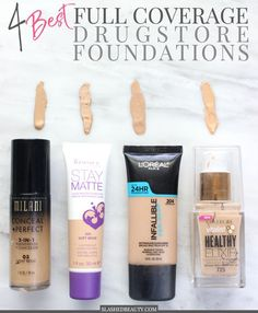 Need coverage on a budget? Check out the top 4 full coverage drugstore foundations! | Slashed Beauty