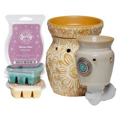 Scentsy Companion System    3 Scentsy Bars of your choice, 1 Plug-In Scentsy Warmer, plus 1 Full-Size Scentsy Warmer.