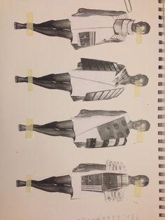 Fashion & Architecture #collage #fashion #sketchbook #architecture