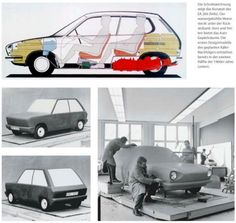 OG | 1969 Volkswagen / VW EA266 | Blueprint, scale and full-size clay models