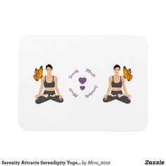 Shop Serenity Attracts Serendipity Yoga Butterfly Love Magnet created by Personalize it with photos & text or purchase as is! Serendipity Quotes, Lotus Pose Yoga, Ways To Relax, Daughter Of God, Yoga Quotes, Girls In Love, Get Well, Yoga Inspiration, Gifts For Friends